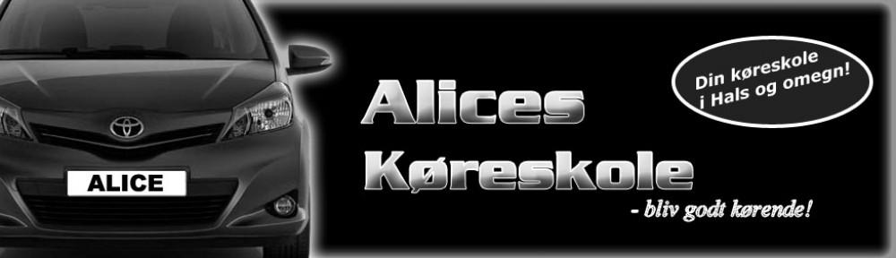 Alice's Køreskole     Tlf.: 26 82 25 24